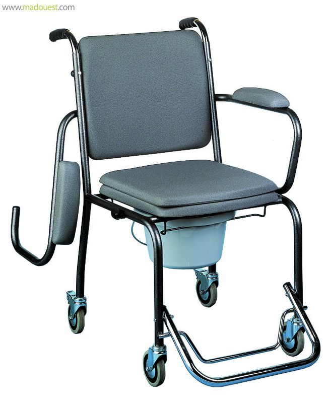 Chaise Garde-robe sur roues et accoudoirs rabattables